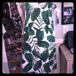 Alice and Olivia palm leaves Dress new with tags!